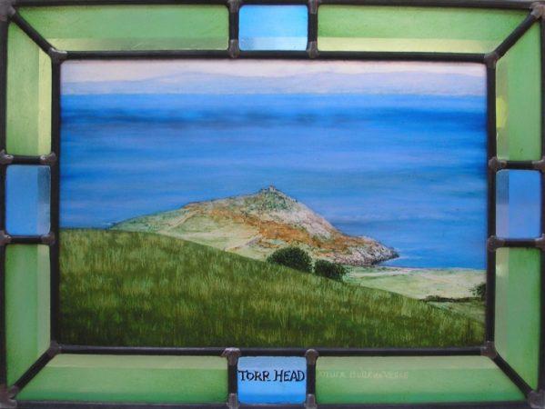 peinture sur verre d'un paysage irlandais