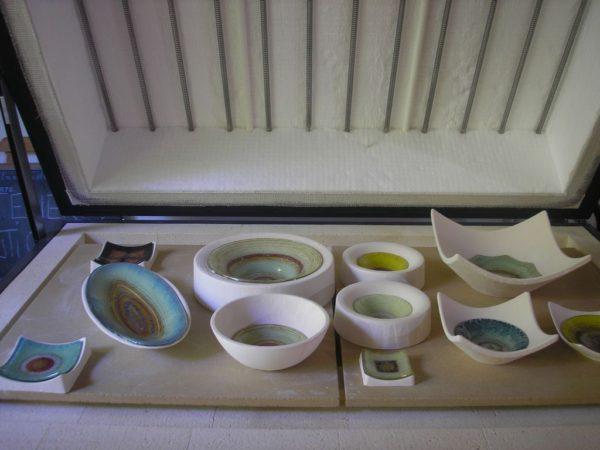 objets de verre thermoformés après cuisson